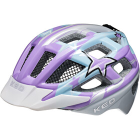 KED Kailu Helmet Kids Purple Lightblue Stars